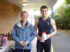 Paul Hewitt and Rosie Wild, winners of the under 30 age category